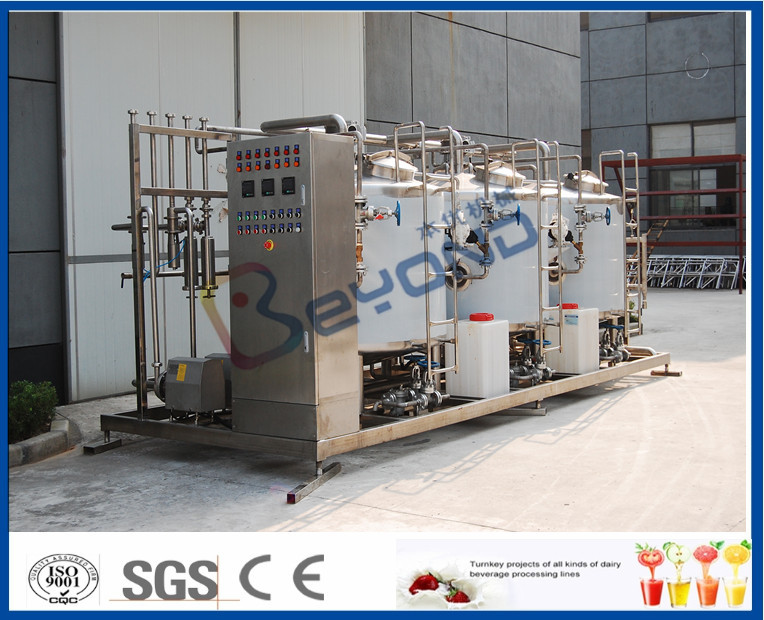SUS304 SUS316 Split Type Cip Cleaning System Food Processing With Flow Rate Auto Control