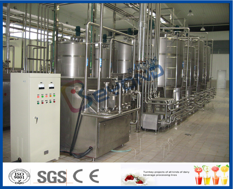 Yogurt Processing Plant Yogurt Processing Equipment 5 - 200 TPD Full Automatic Industrial Type