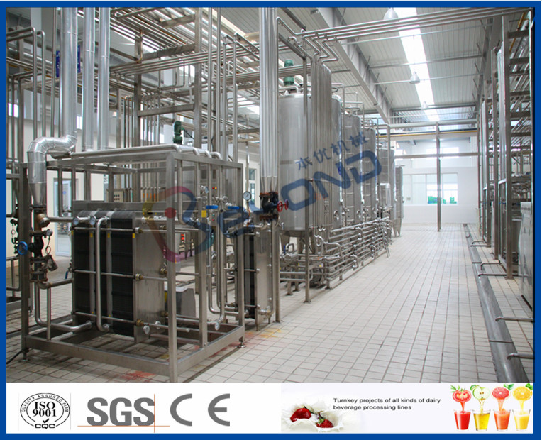 Multifunctional Milk Production Machinery For Pasteurized UHT Milk / Cream / Butter