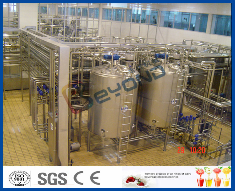 ISO CE SGS Milk Production Machine , 250ml Aseptic Pouch Packing Milk Dairy Plant Machinery