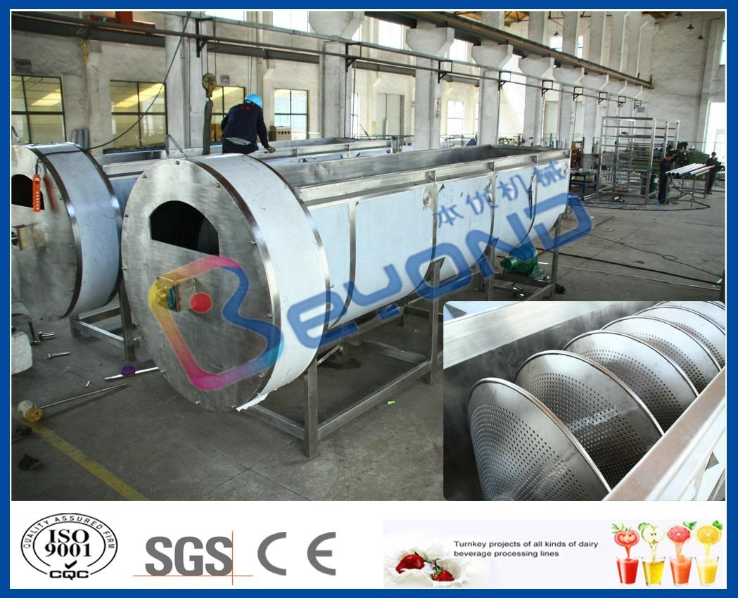 Industrial Orange Juice Fruit Processing Equipment with Spiral Type Cooling Machine