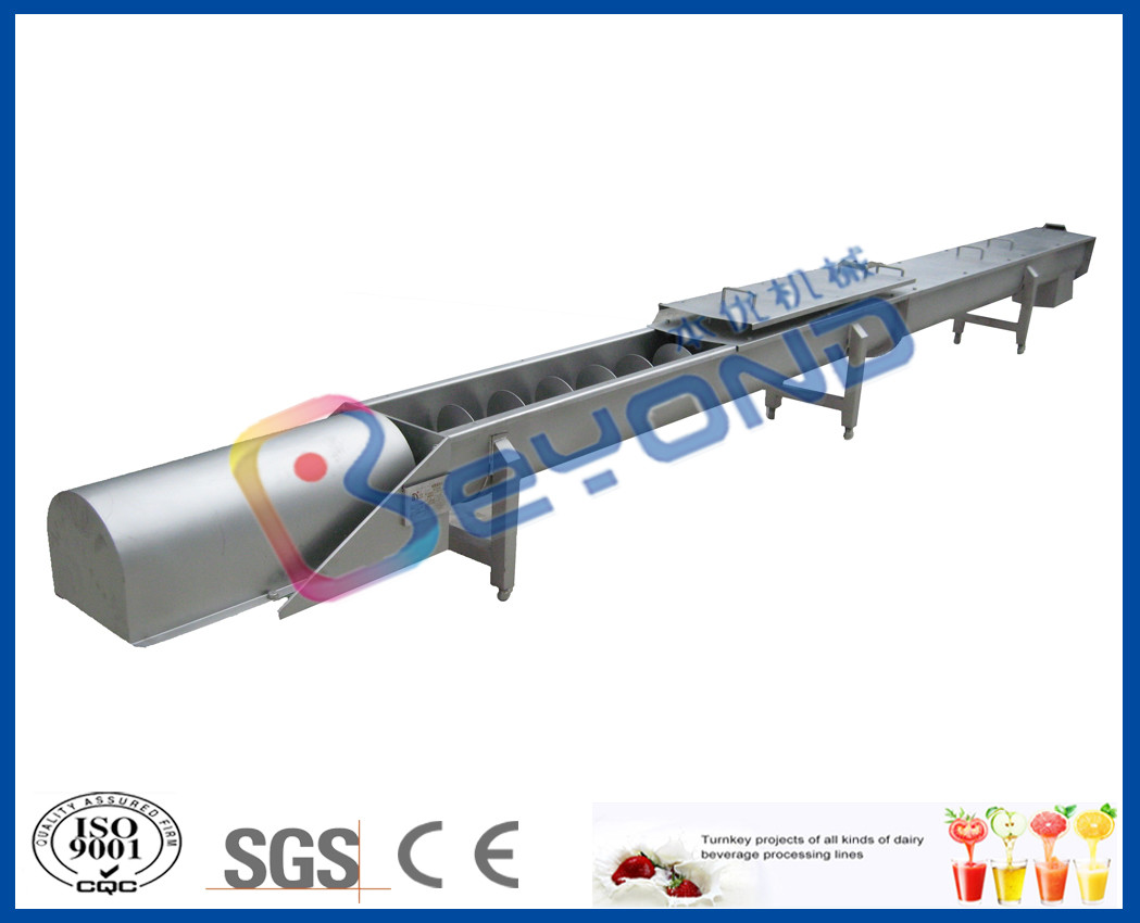 Screw Conveyor Design Fruit Processing Equipment With SUS304 Stainless Steel