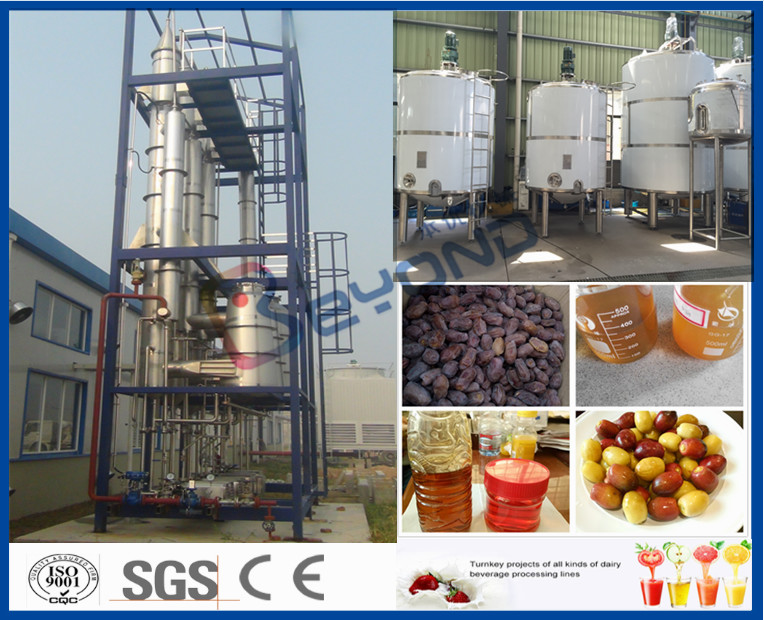 Fruit Processing Industry Fruit Juice Processing Line For Date Juice / Orange Juice