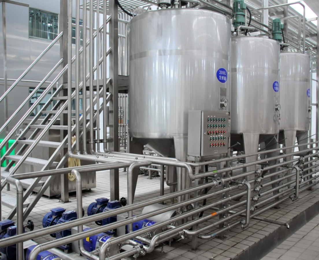 Large Scale Yogurt Manufacturing Equipment / Industrial Yogurt Machine ISO 9001